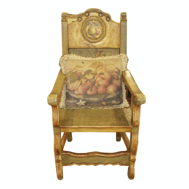Louis XIV Style Pear Motif Chair