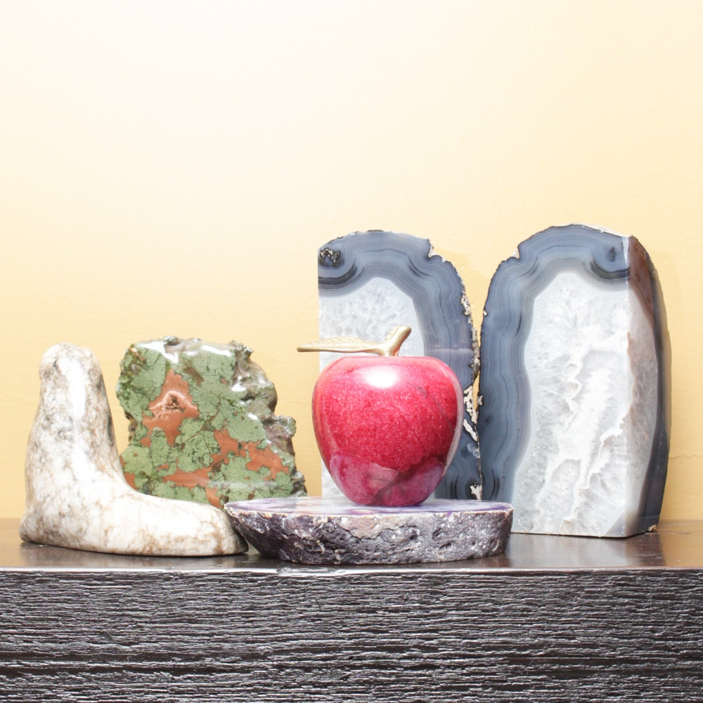 Geodes and Stone Sculptures