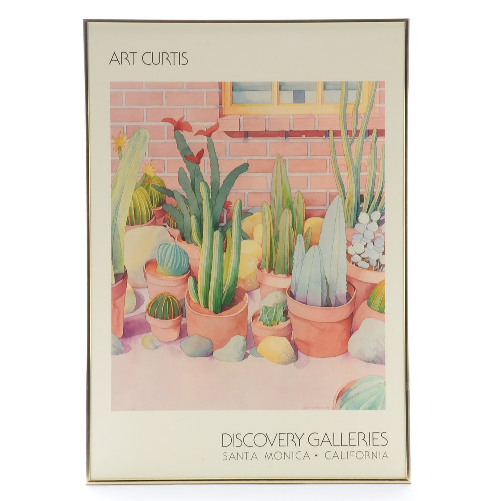 Art Curtis 1982 Exhibition Poster for Discovery Galleries, Santa Monica