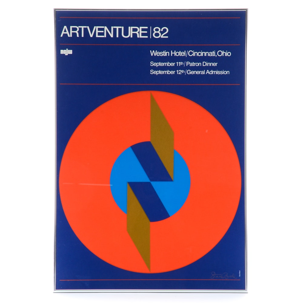 "Stan Brod 1982 Lithographic Poster for Westin Hotel, Cincinnati ""Artventure"""