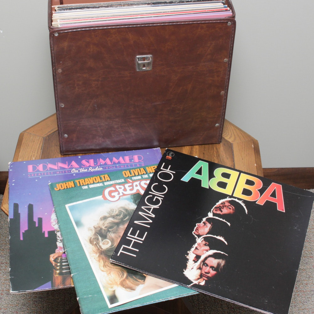 Vintage Records Featuring ABBA, Grease, Donna Summer, and More