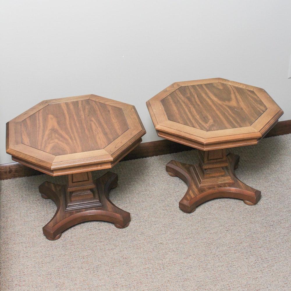 Oak Veneer Accent Tables