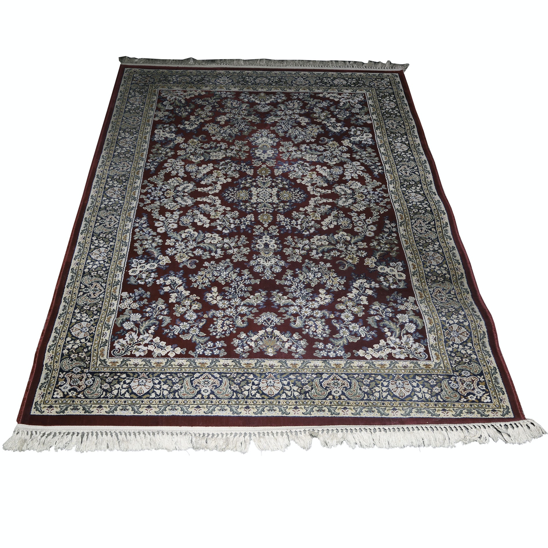 Machine Woven Persian Style Synthetic Area Rug by Burlington Industries