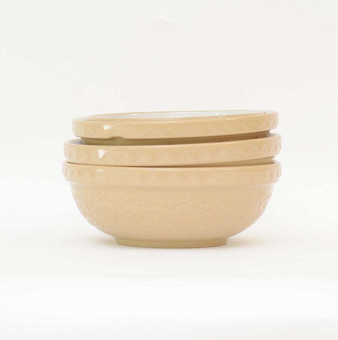Mason Cash & Co. Stoneware Pottery Mixing Bowls