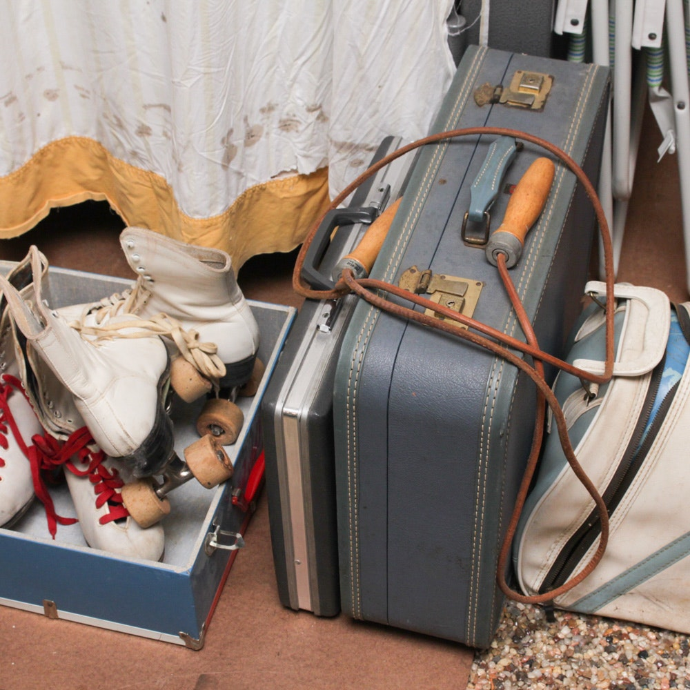 Vintage Luggage and Sporting Goods