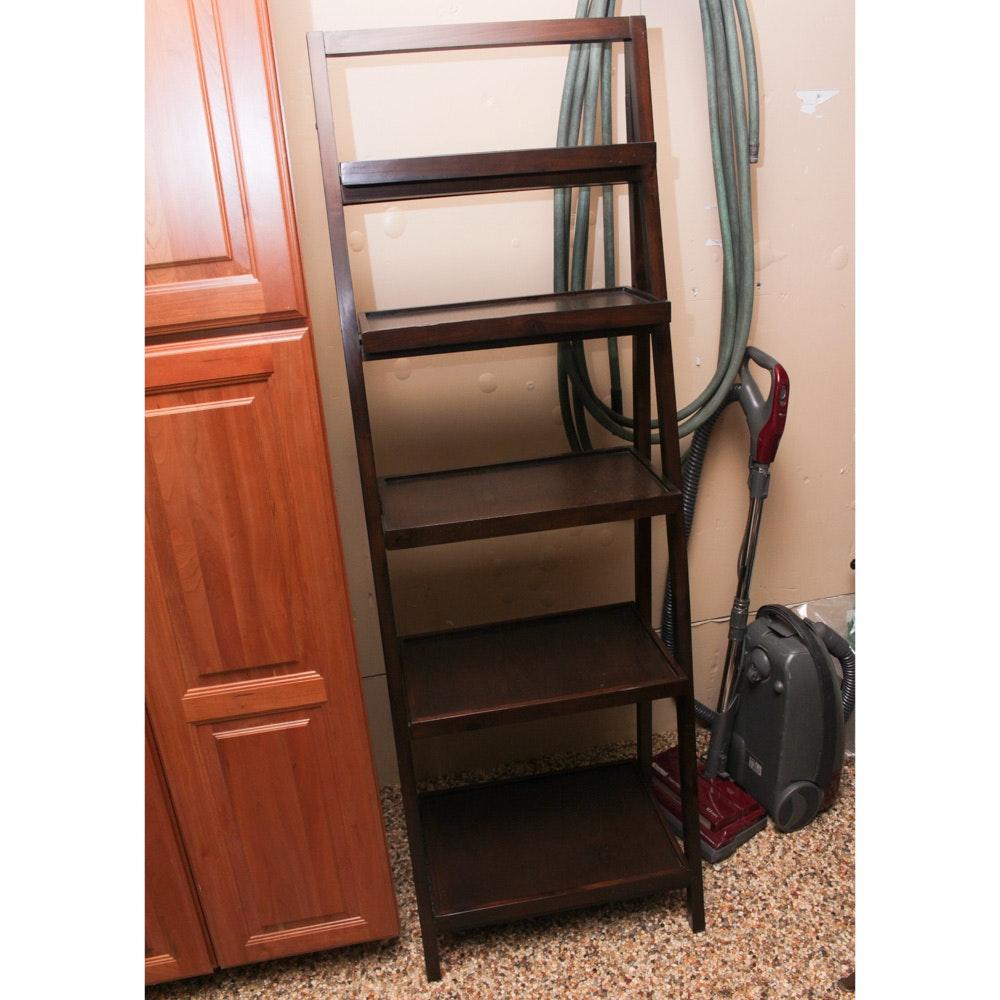 Contemporary Wooden Ladder Bookshelf