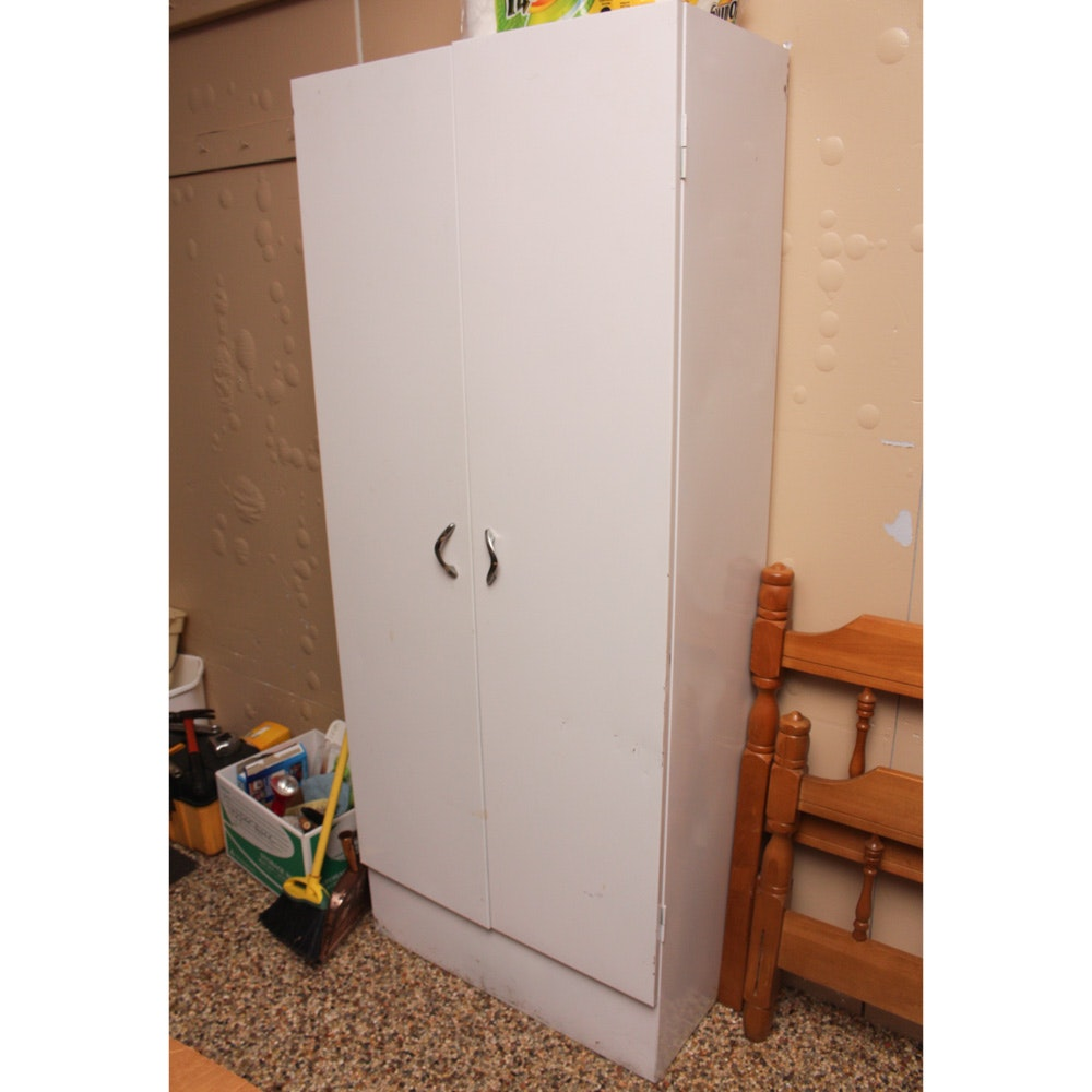 White Steel Utility Cabinet