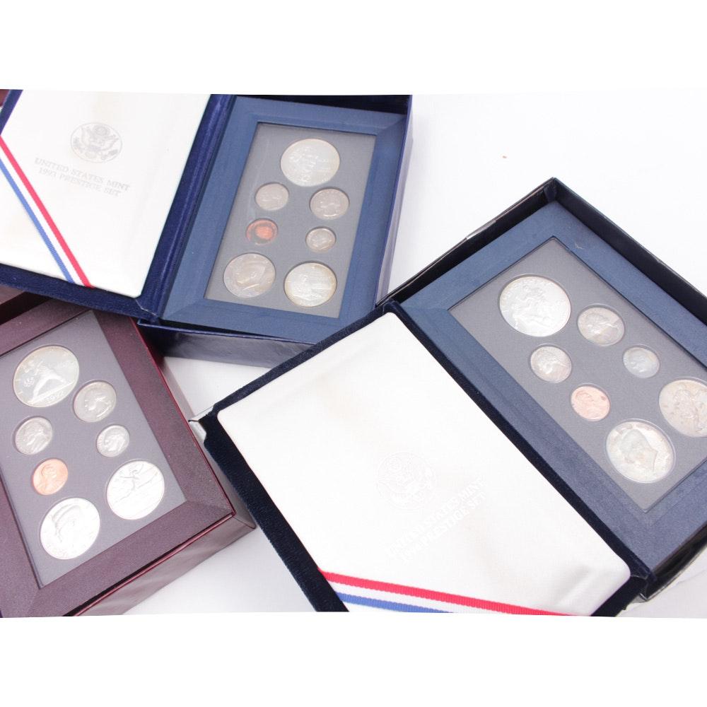1992, 1993 and 1994 United States Mint Prestige Sets