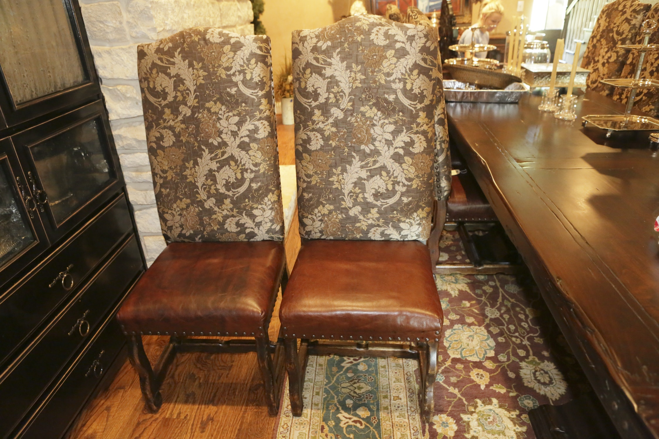 Louis XIV Style Upholstered Side Chairs