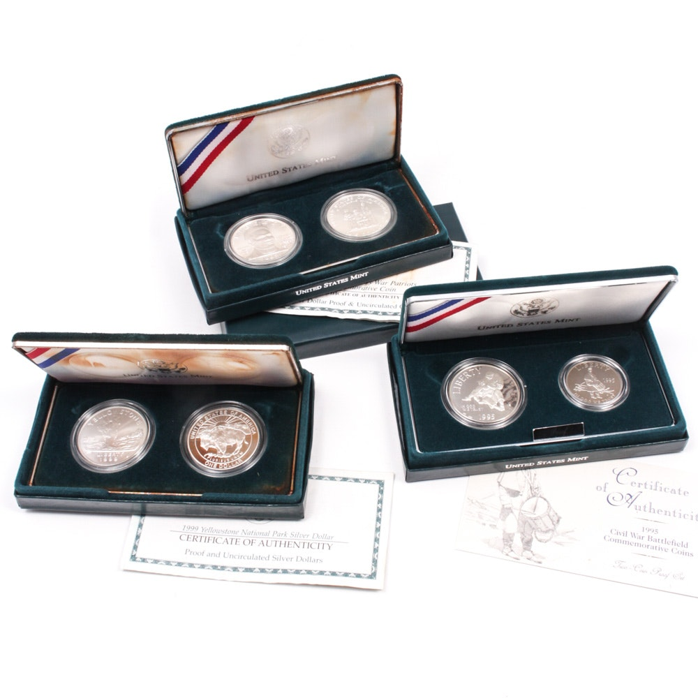 United States Mint Commemorative Silver Dollars