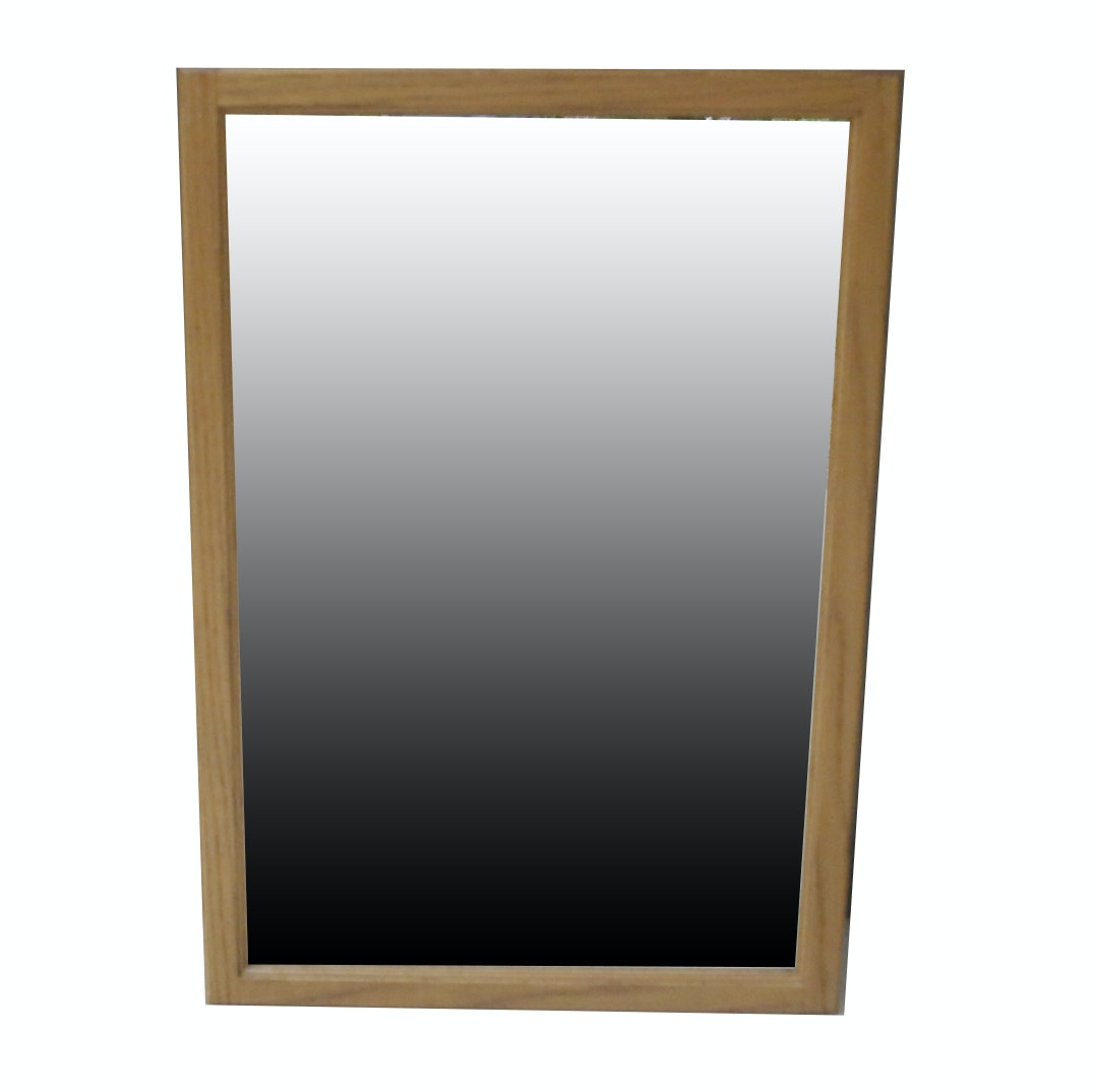 Wall Mirror With Natural Wood Frame