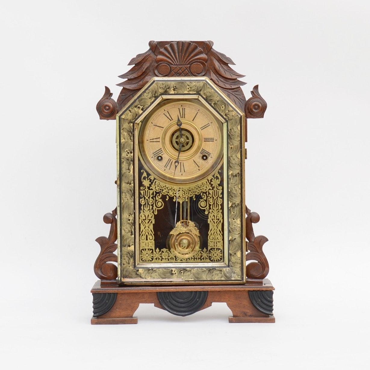 Ingraham Eastlake Style Mantel Clock