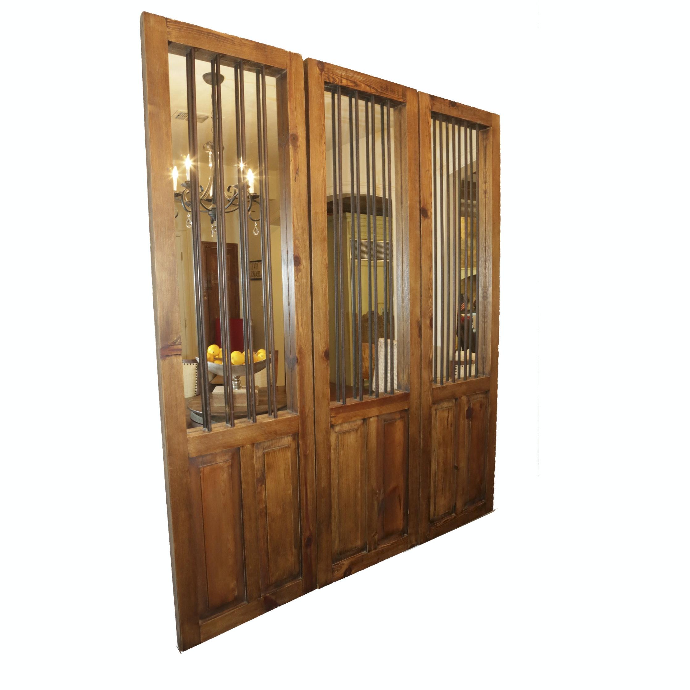 Decorative Door Panels with Mirrors