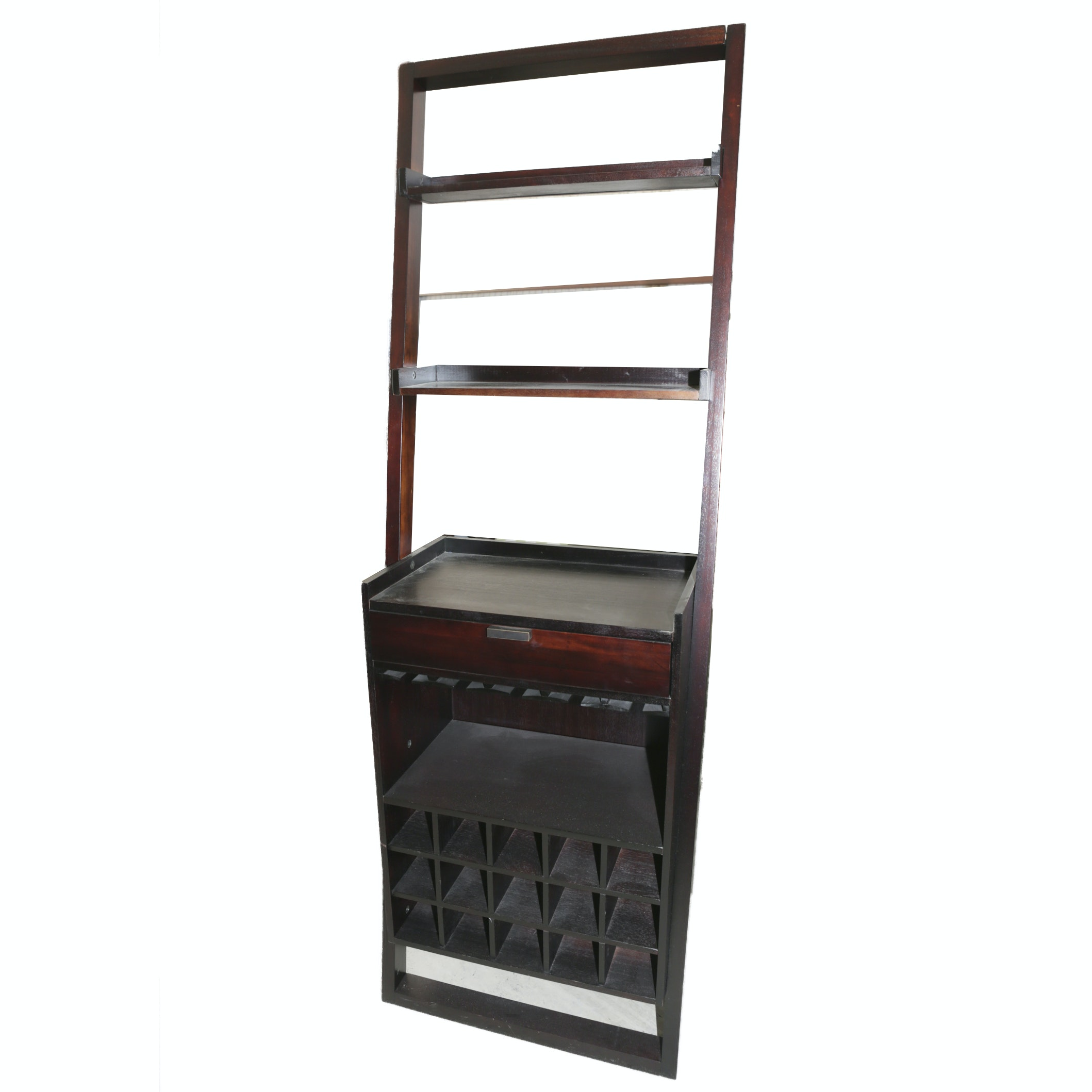 Wall Bar with Shelving and Wine Bottle Storage