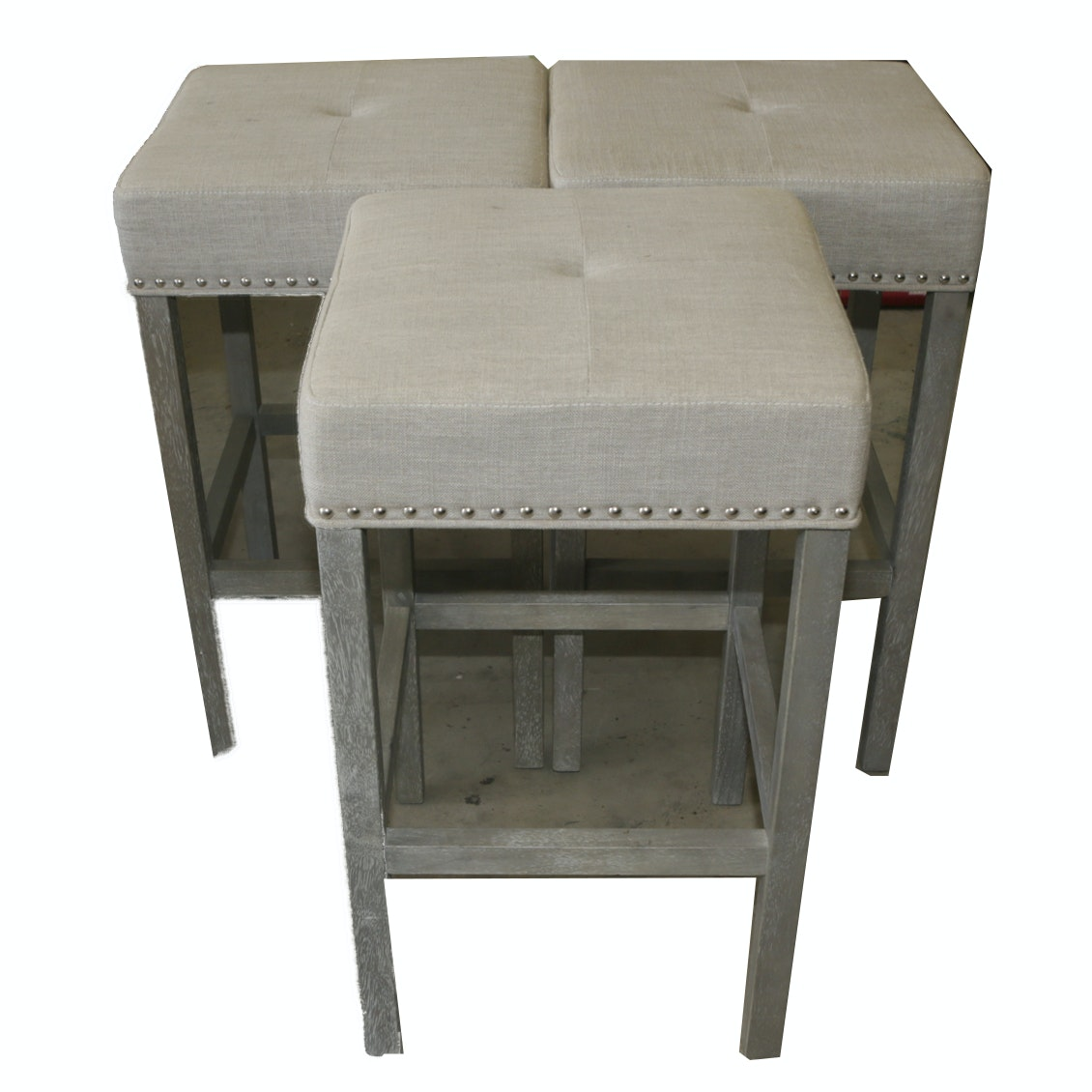 Contemporary Counter Height Upholstered Stools