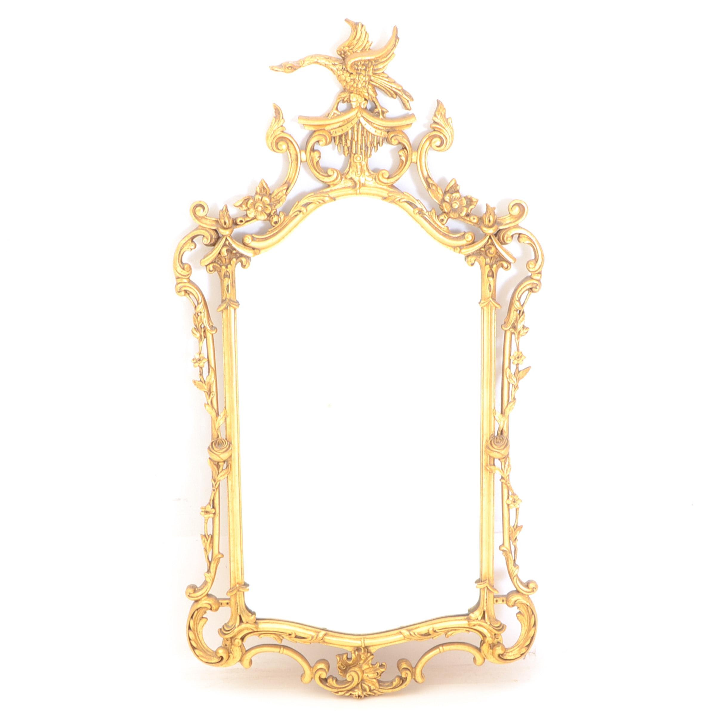 Rococo-Style Gilt Wall Mirror