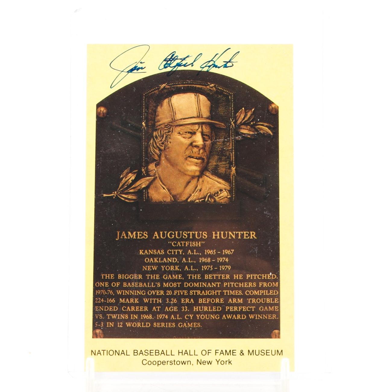 "Jim ""Catfish"" Hunter Signed Hall of Fame Postcard"