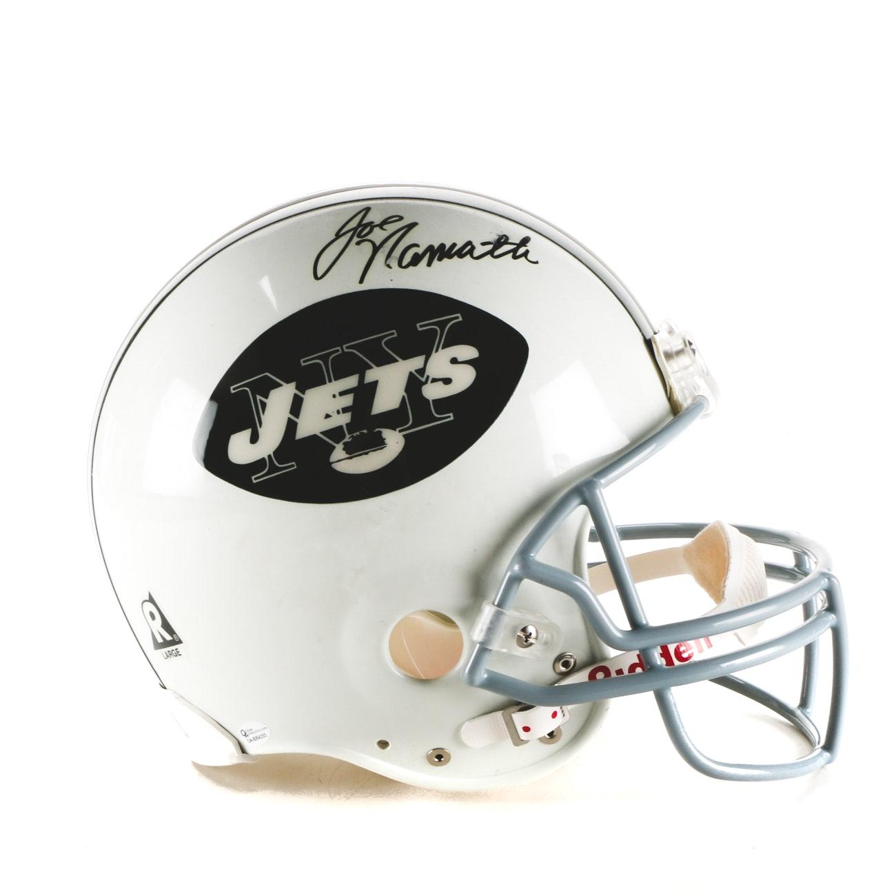 Joe Namath Signed Full Size Helmet  COA