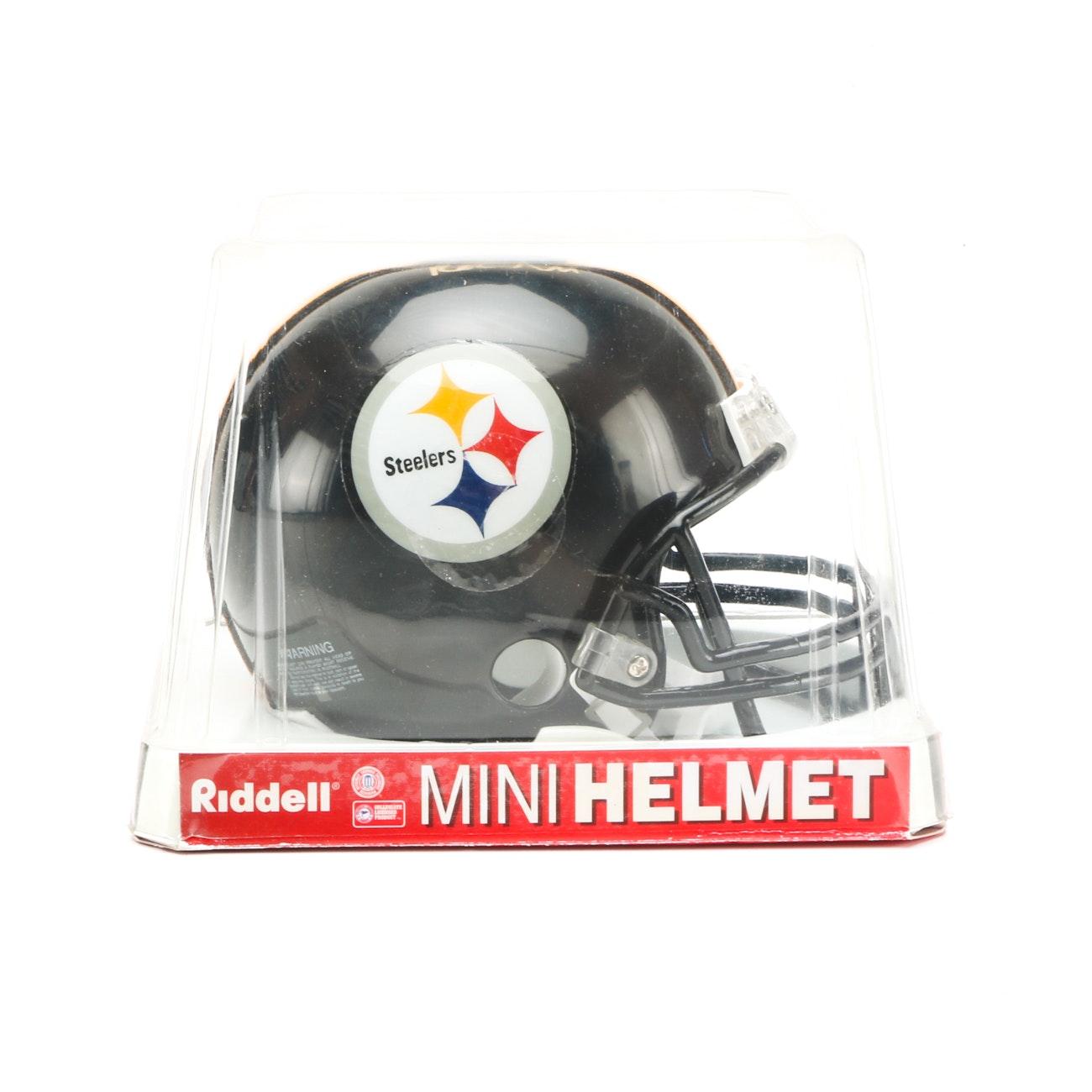 Rashard Mendenhall Signed Steelers Helmet  COA