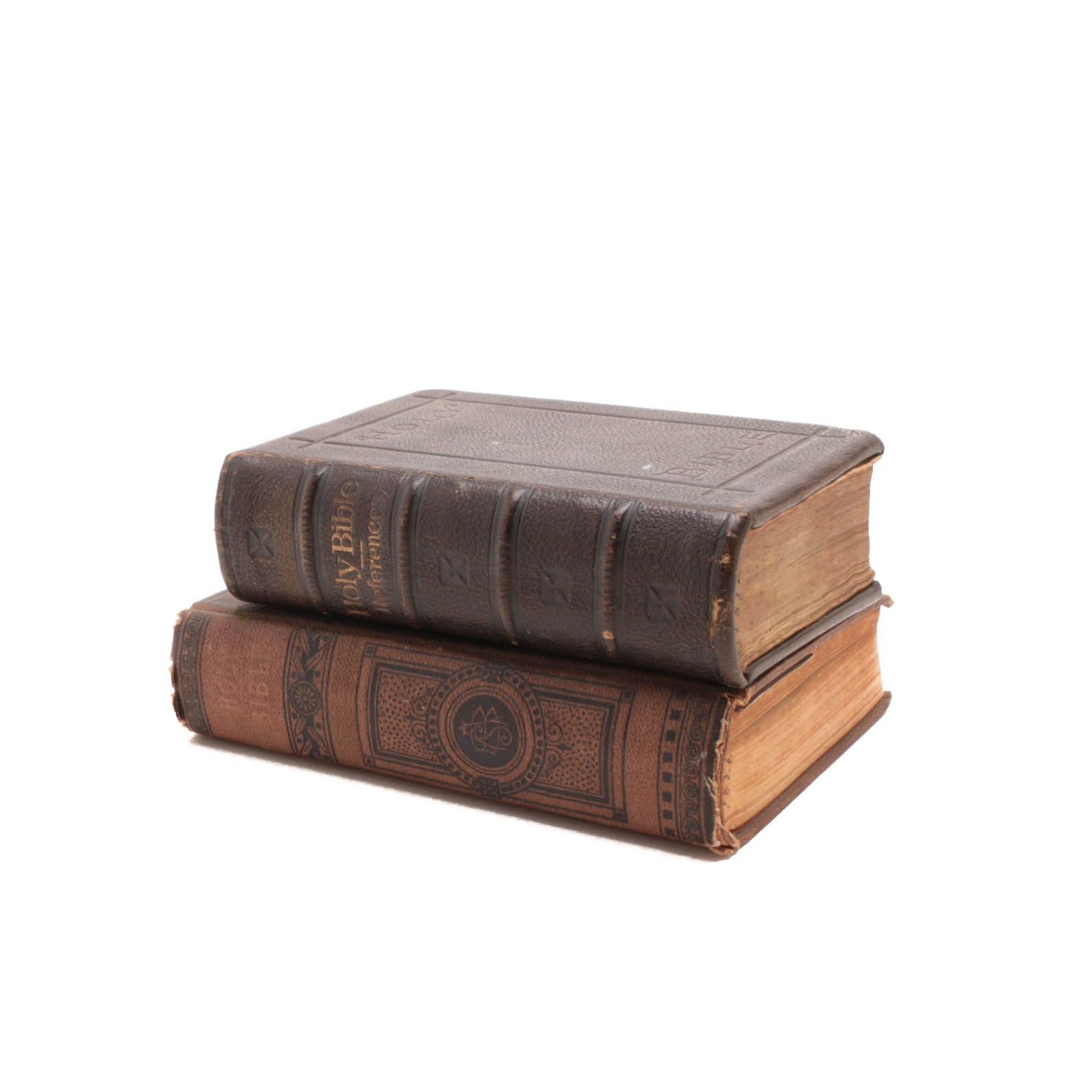 Two Antique Holy Bibles