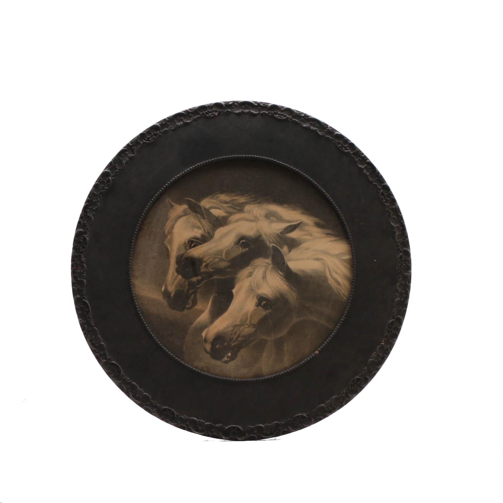 """Framed Lithograph of """"Pharoah's Horses"""""""