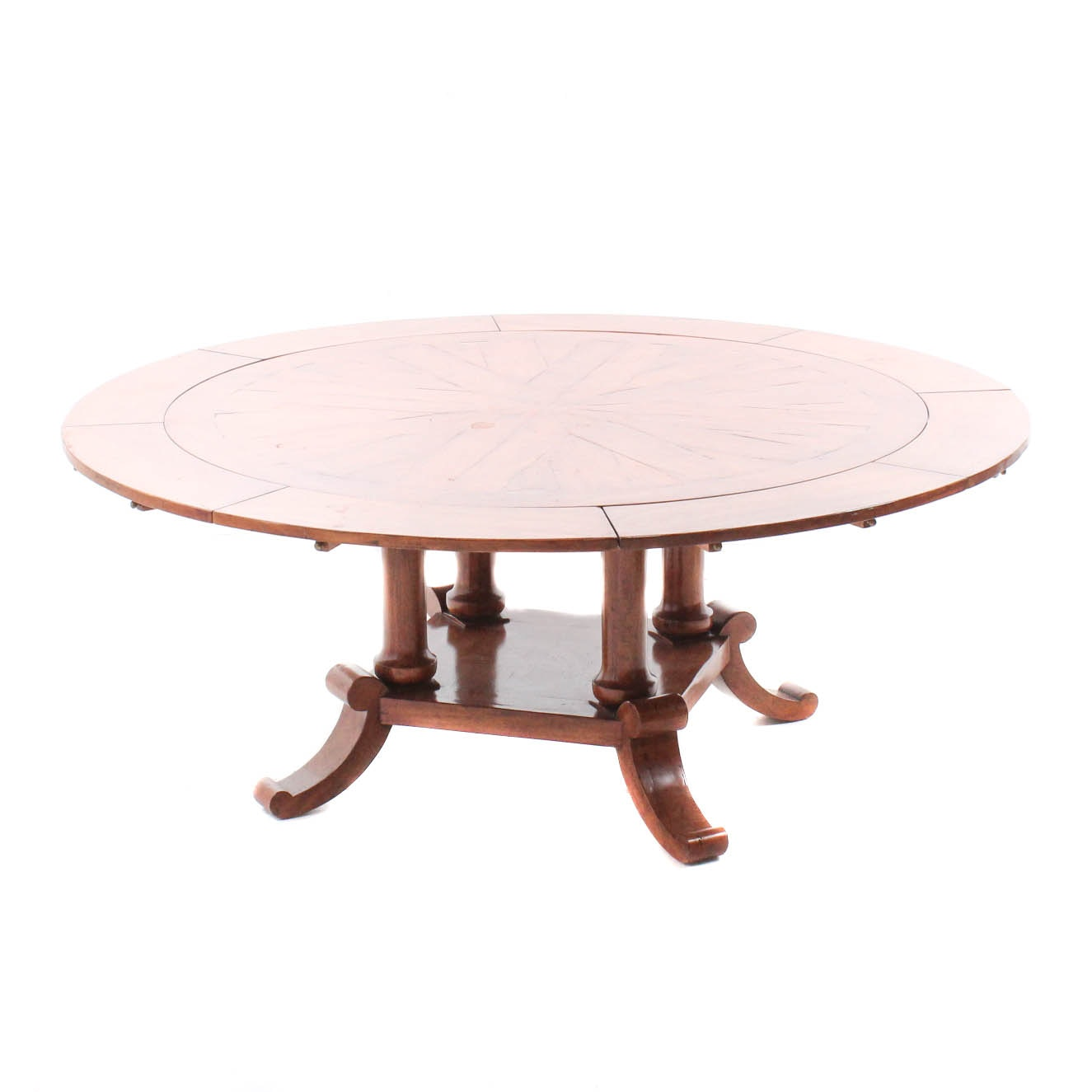 Vintage Fruitwood Finish Expandable Dining Table