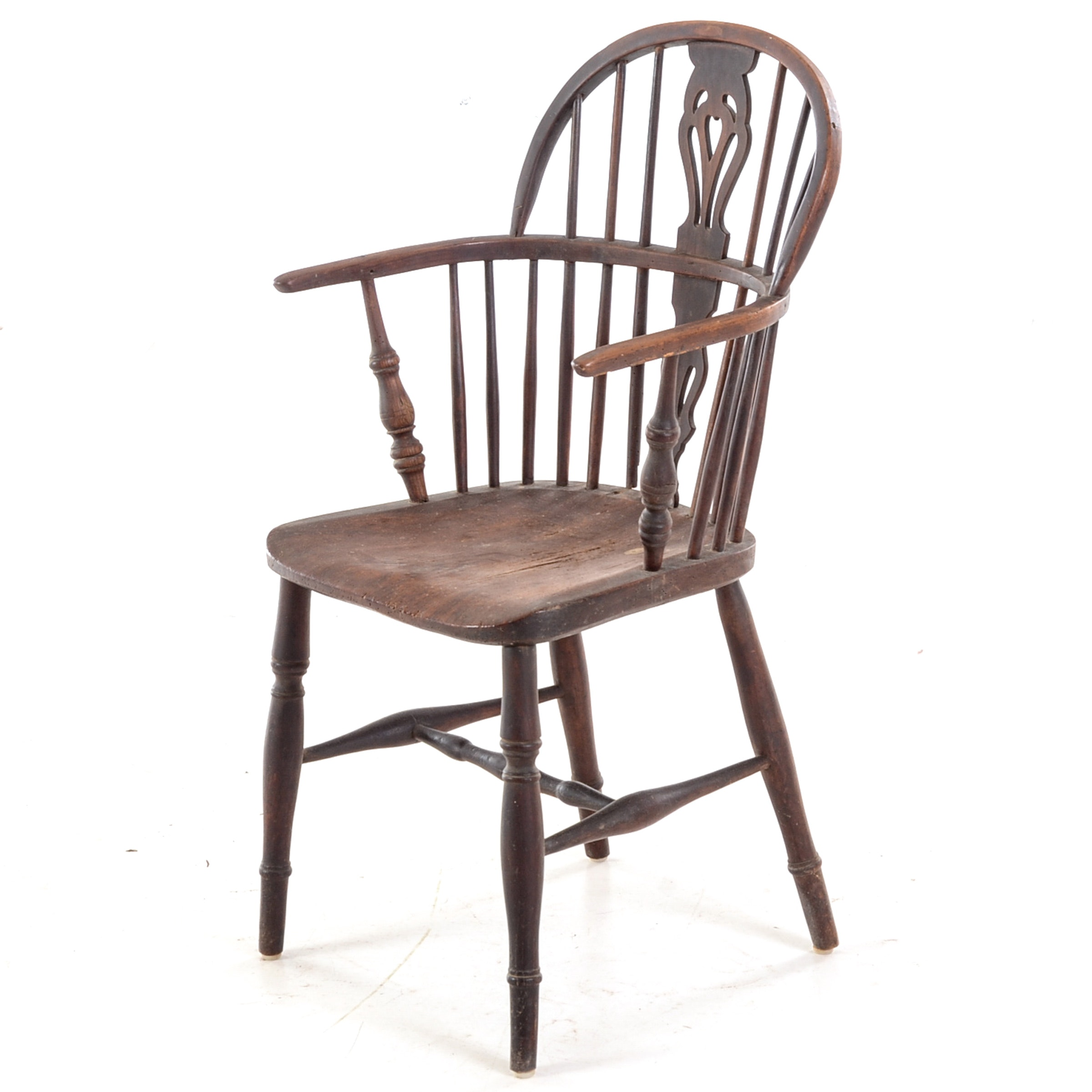Antique English Elm Windsor Arm Chair