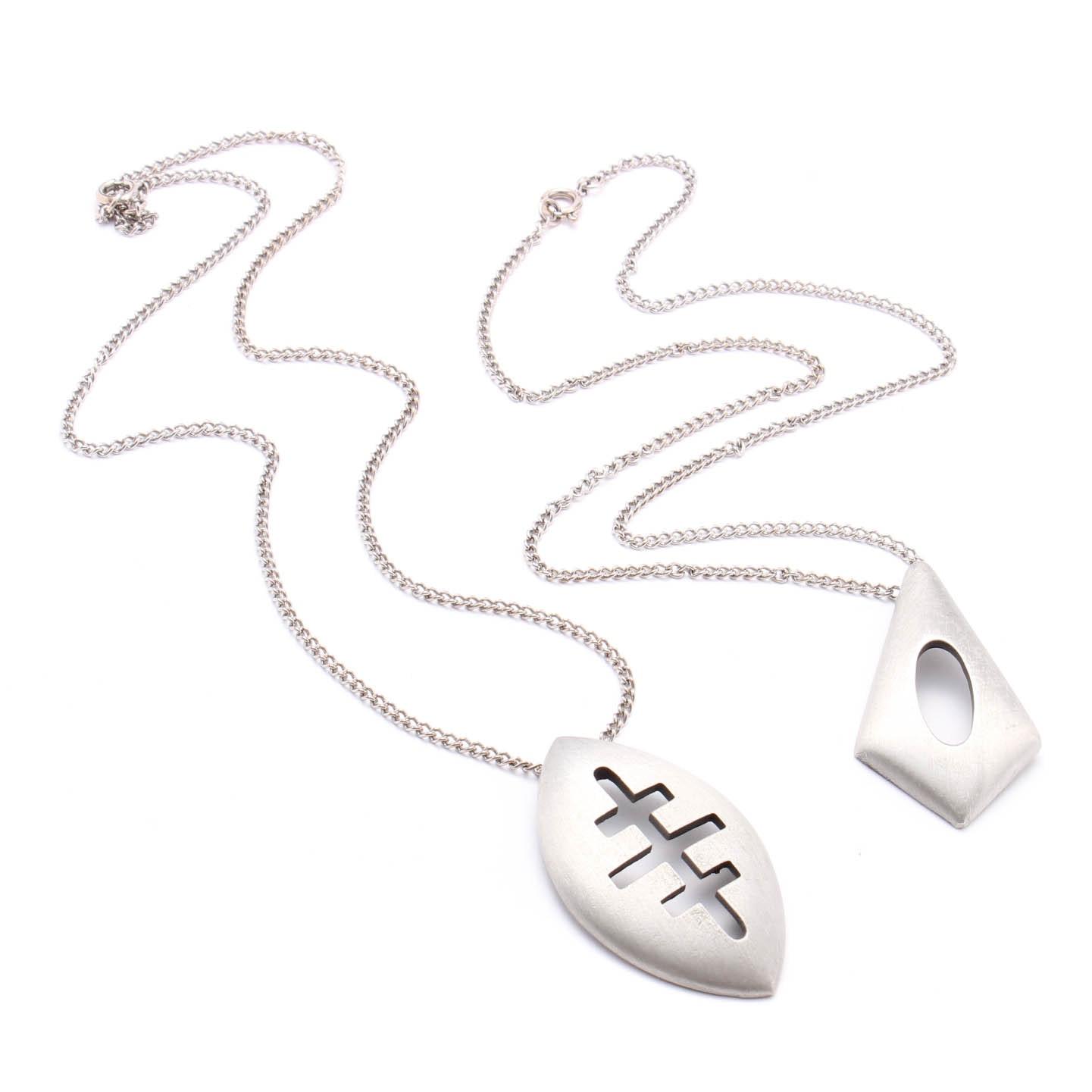 Vintage Pewter Necklaces