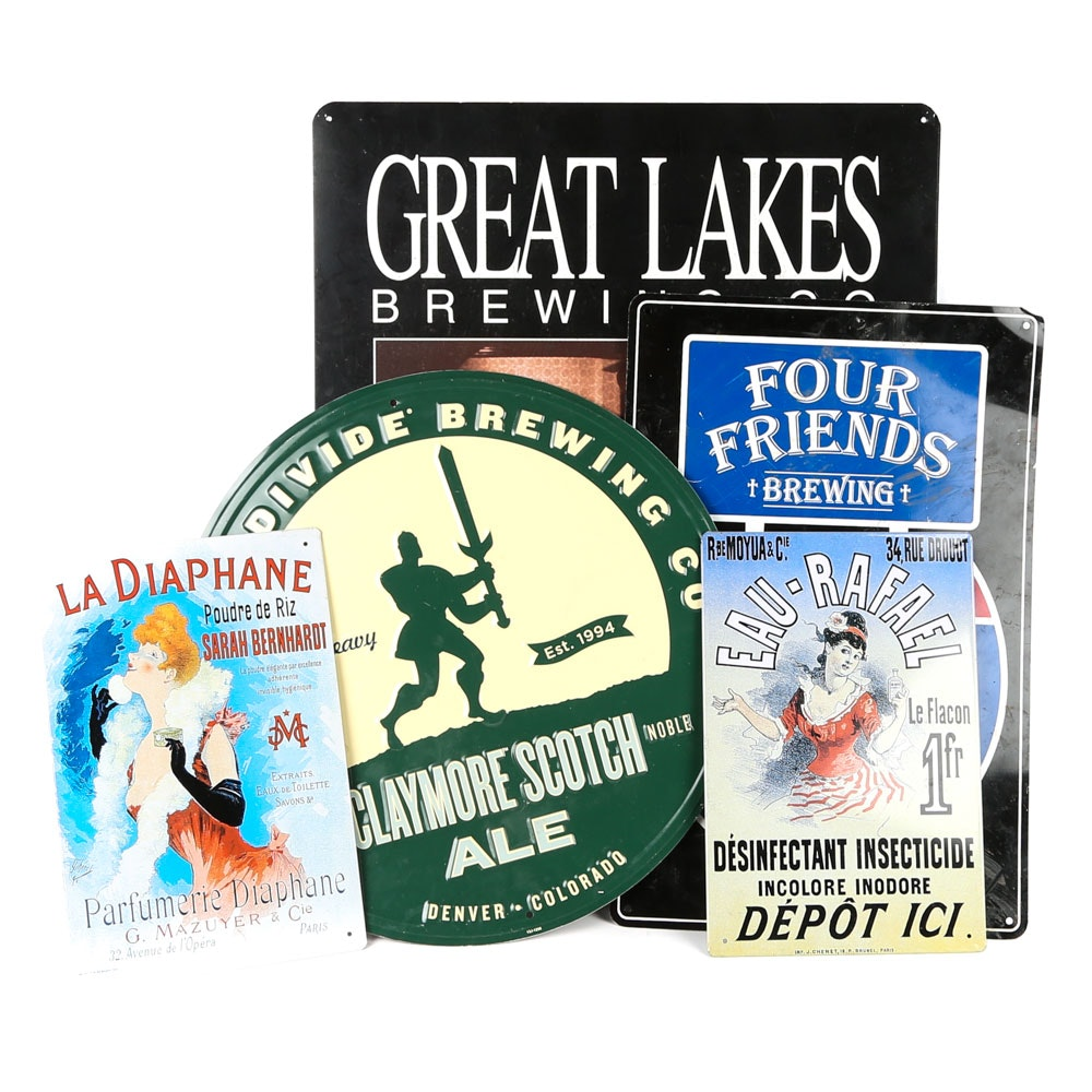 Decorative Ale and Perfume Metal Advertising Plaques