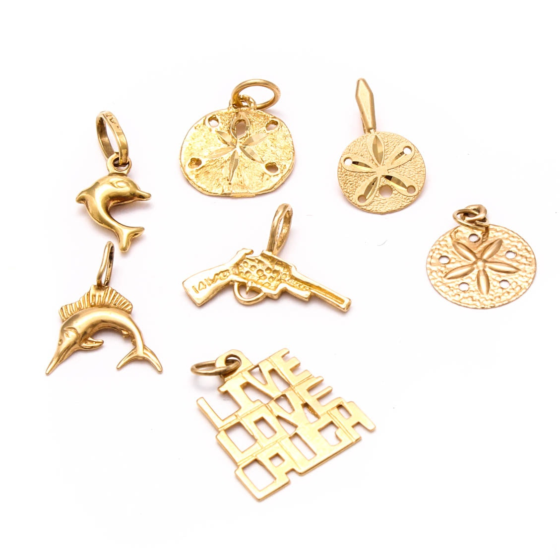 14K and 18K Yellow Gold Charms