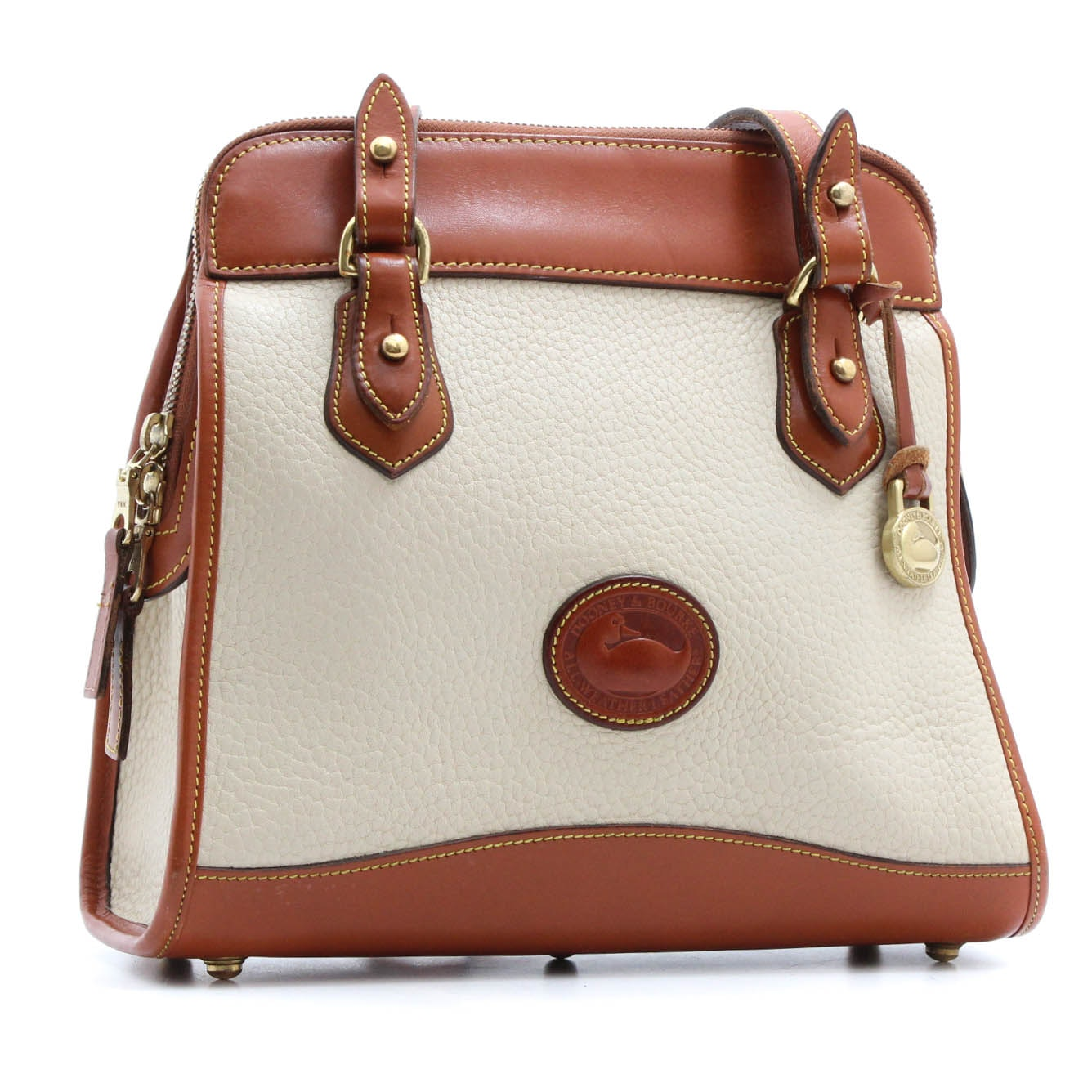 Vintage Dooney & Bourke Pebbled Leather Handbag