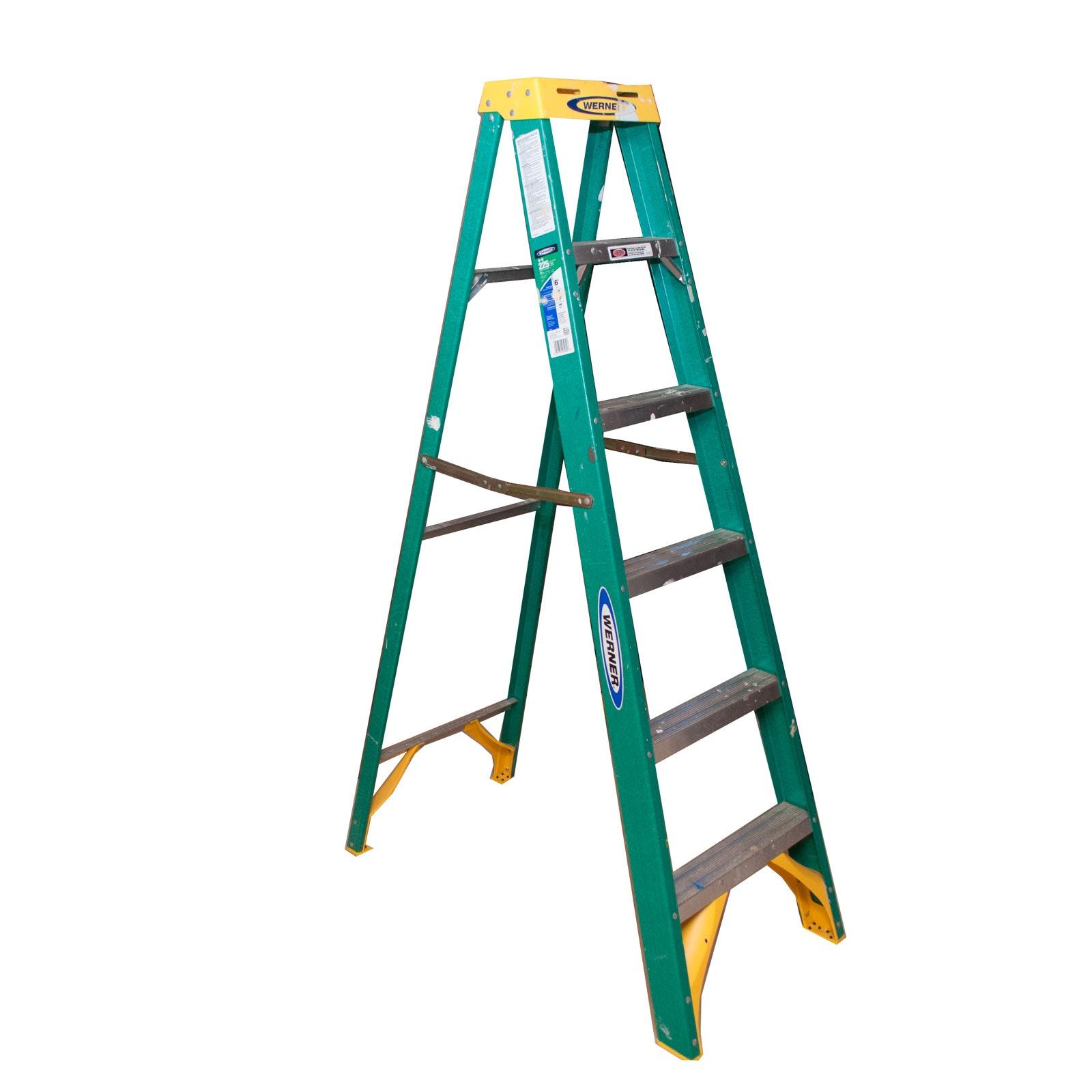 Werner Fiberglass Six Foot Step Ladder