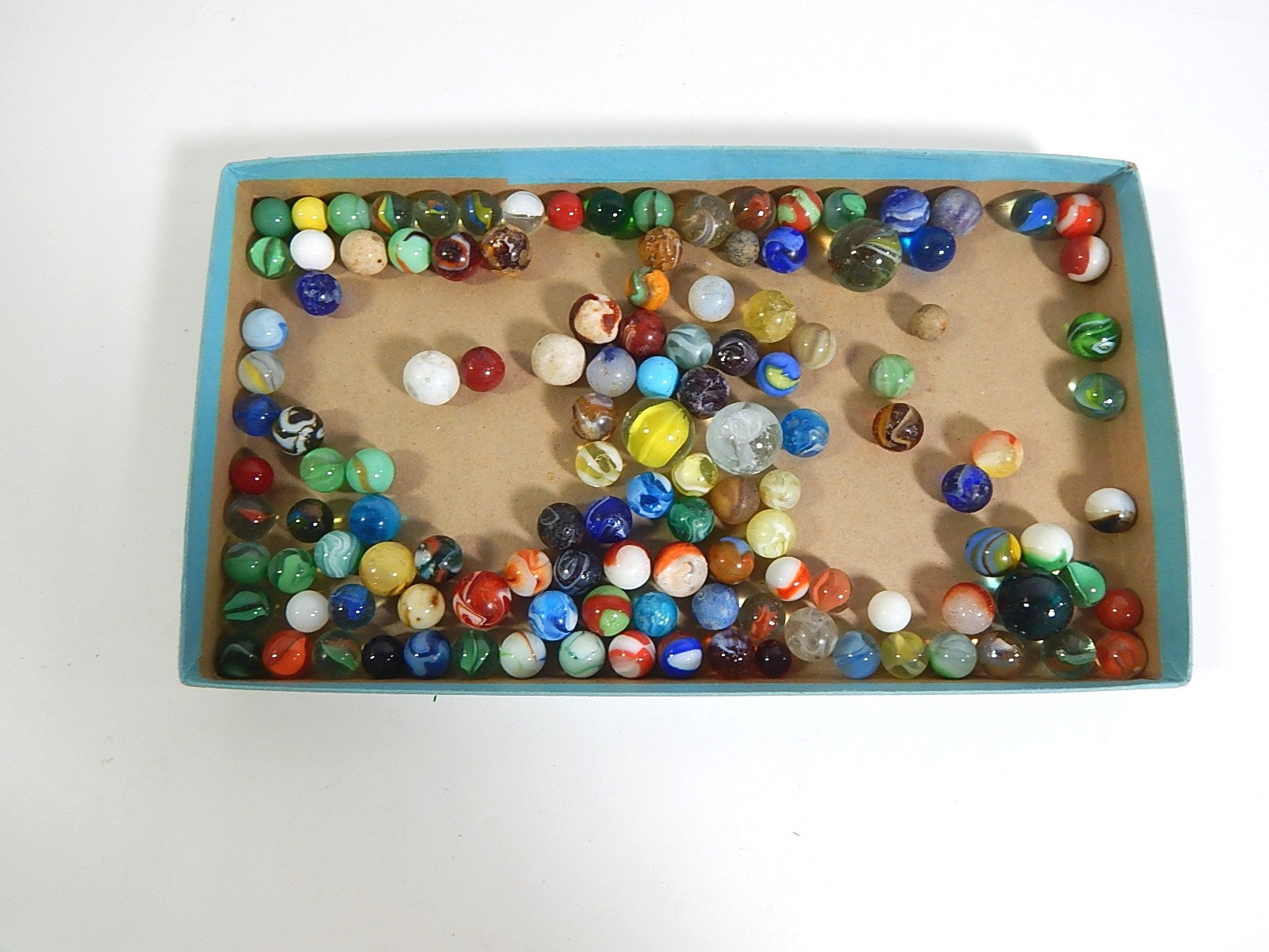 Collection of Vintage Glass Marbles - Over 100 Count