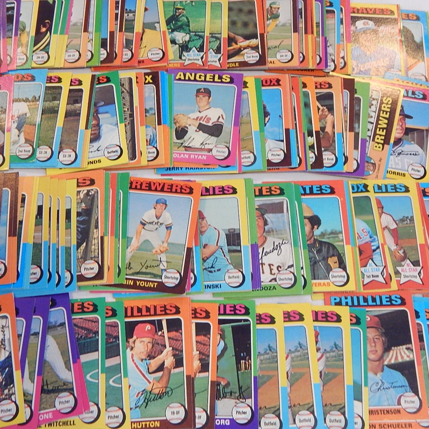 1975 Topps Baseball Card Lot Over Couple Hundred Card Count
