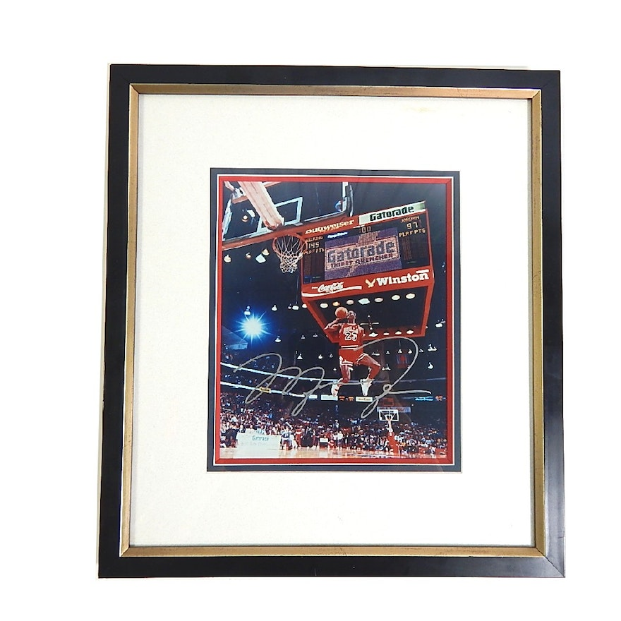 Sports Investments Authenticated Michael Jordan Framed Signed ...