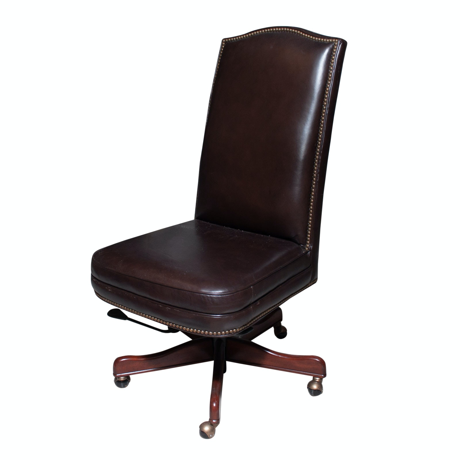 Seven Seas Brown Leather Desk Chair