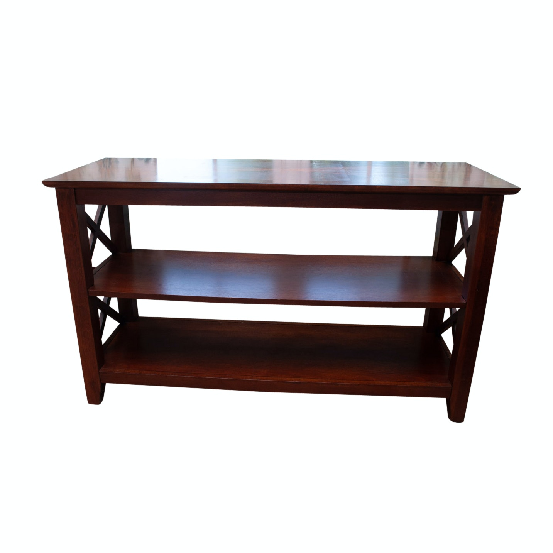 Mahogany Finished Console Table
