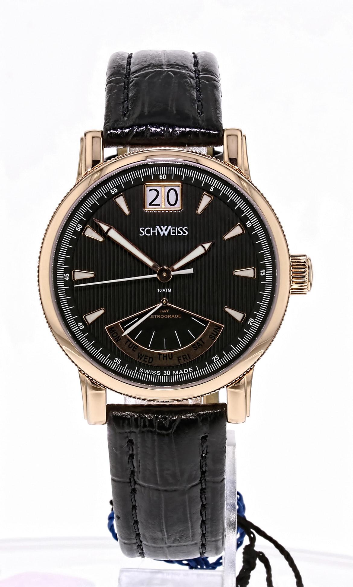 Schweiss Swiss Rose Gold Stainless Steel Wristwatch