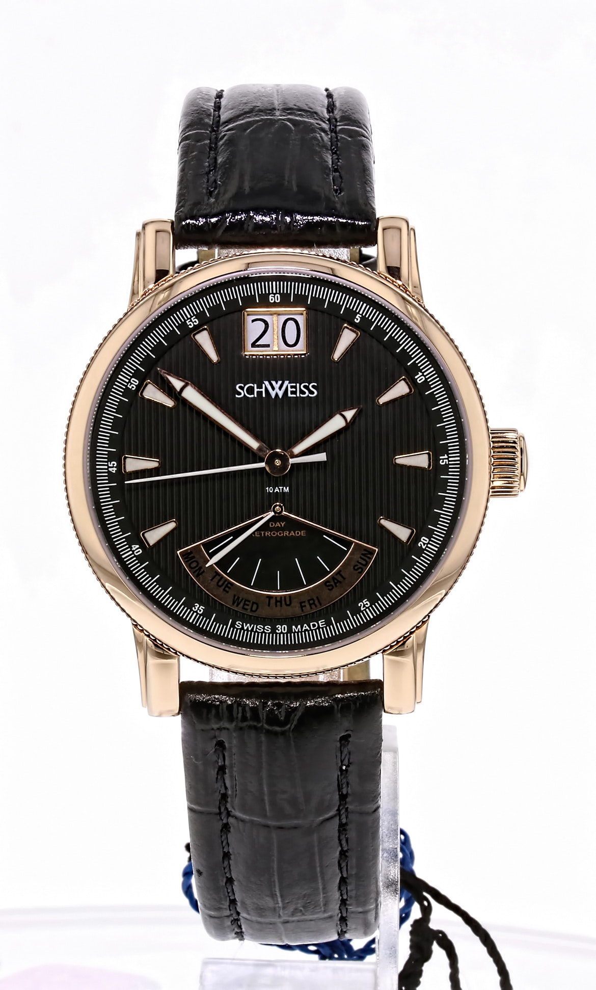 Schweiss Swiss Rose Gold Stainless Steel Wristwatch