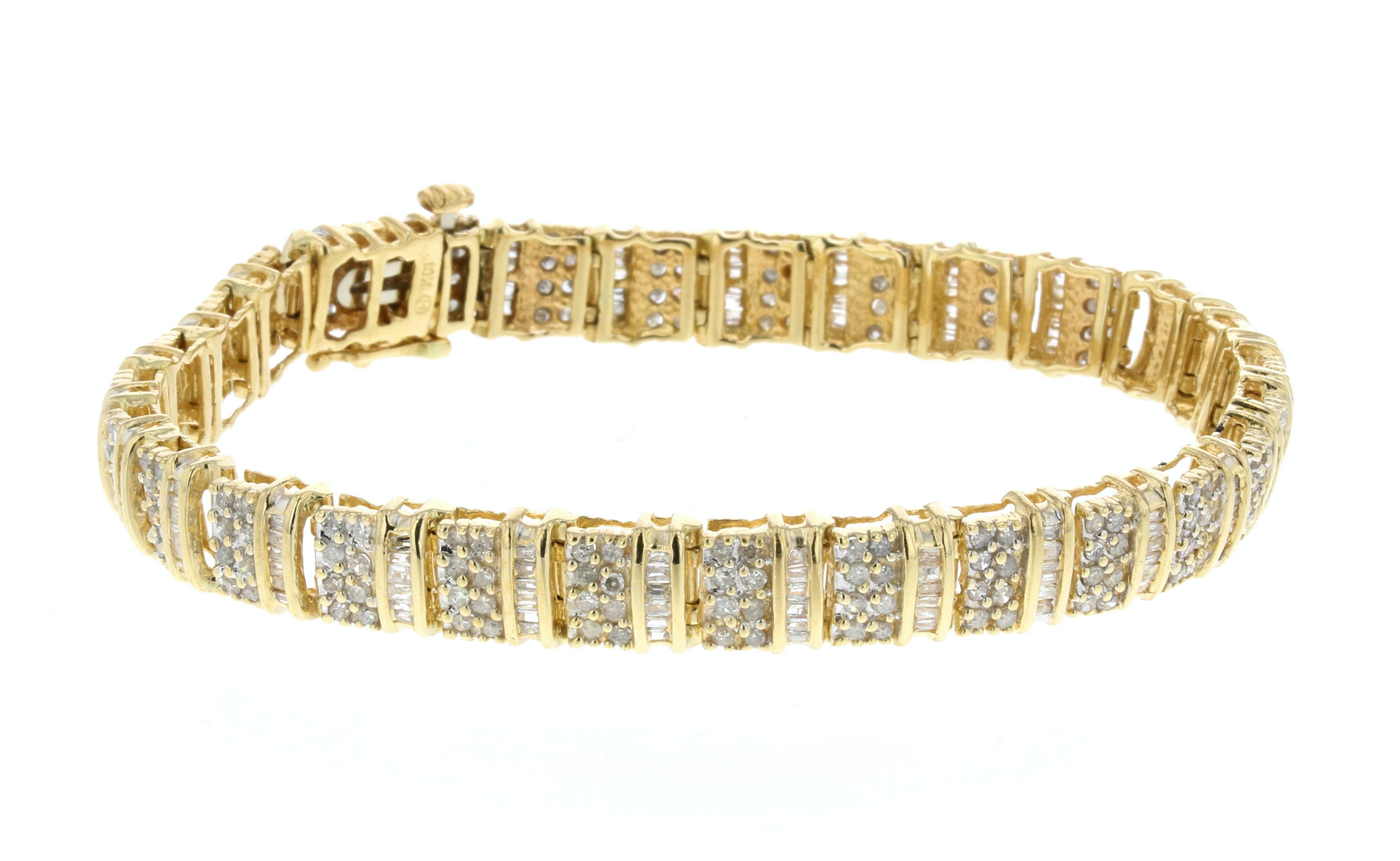 10K Yellow Gold 4.85 CTW Diamond Bracelet