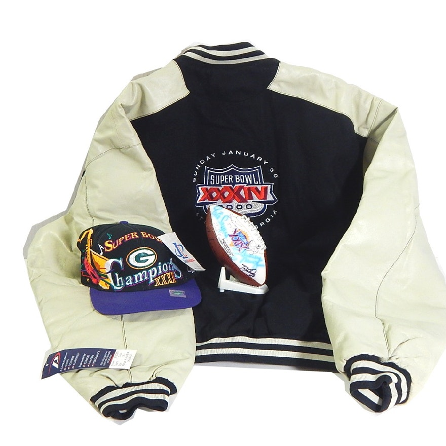 32d218ffb NFL Super Bowl XXXIV Leather Jacket