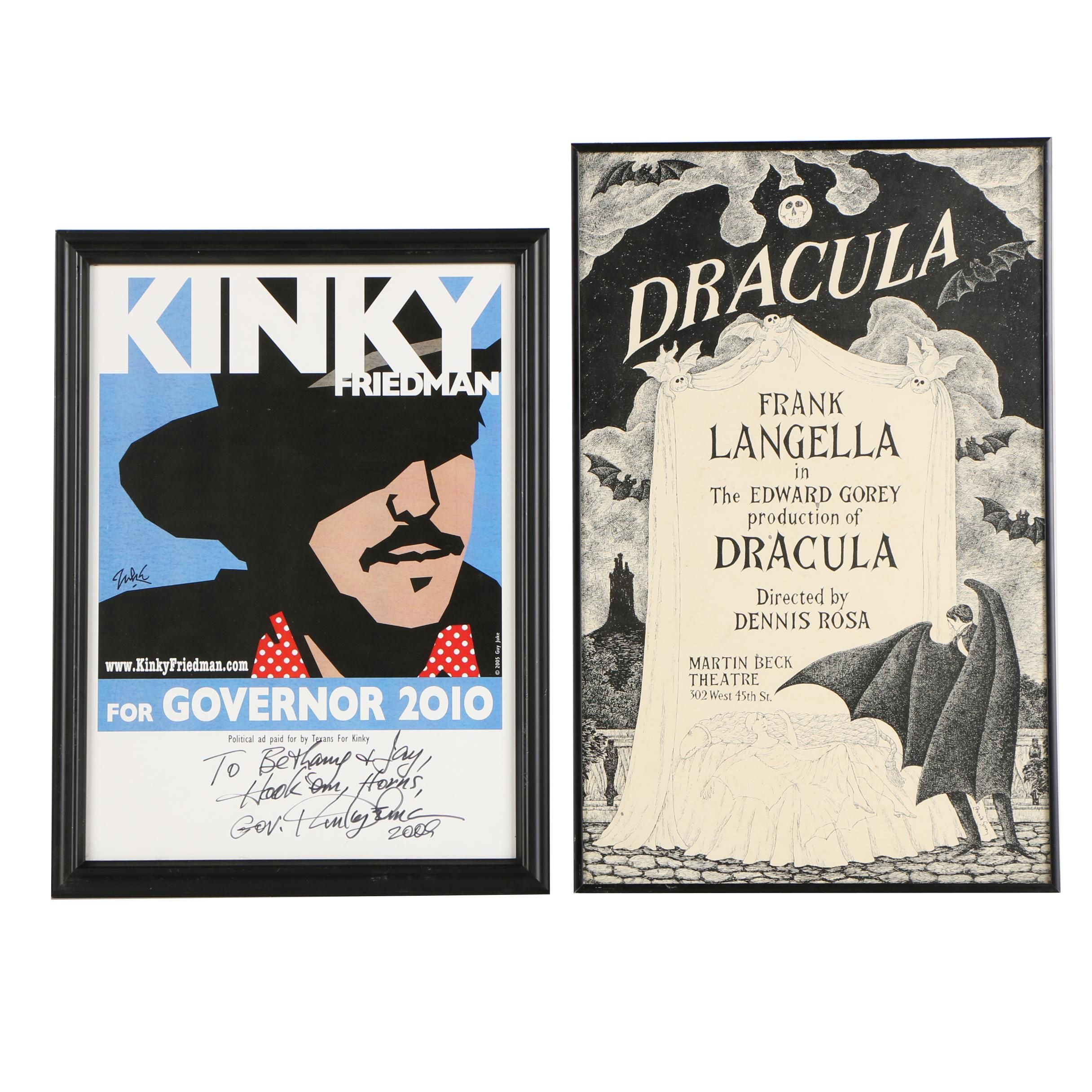 "Edward Gorey 1977 ""Dracula"" Poster"