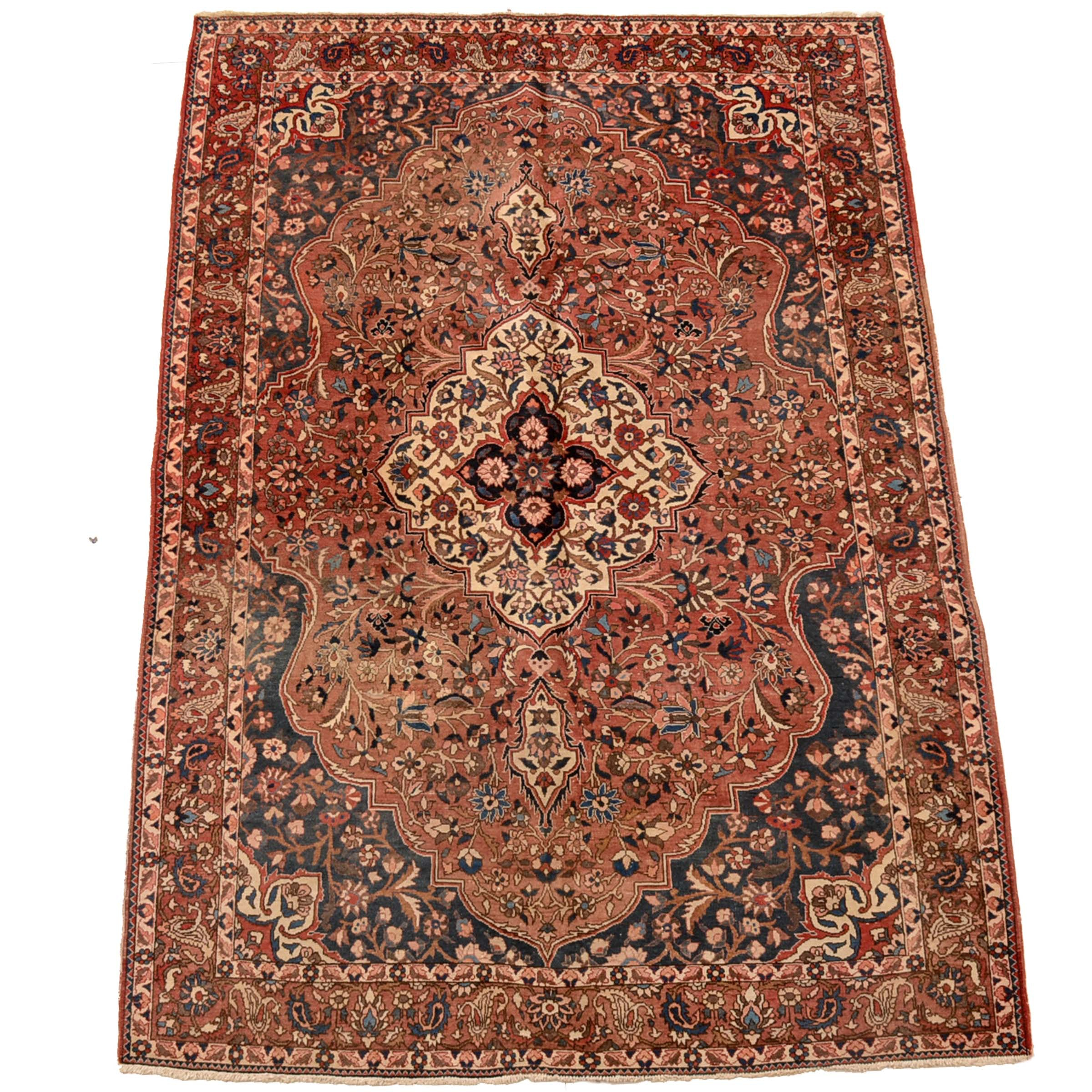 Hand-Knotted Persian Heriz Style Area Rug