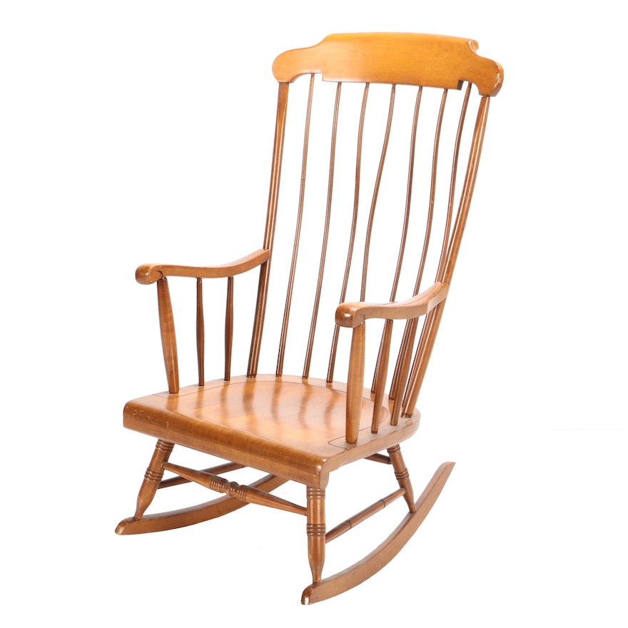 Vintage Colonial Style Rocking Chair By Empire Chair