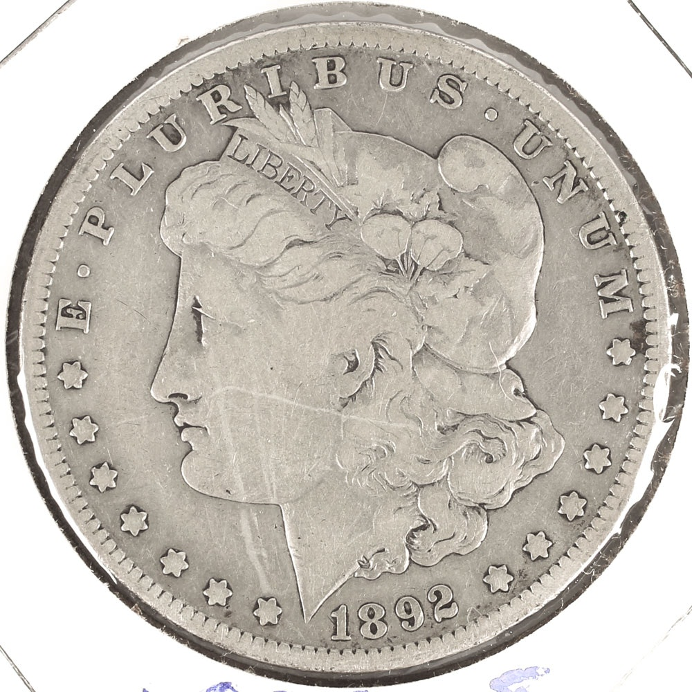 Low Mintage 1892-S Morgan Silver Dollar