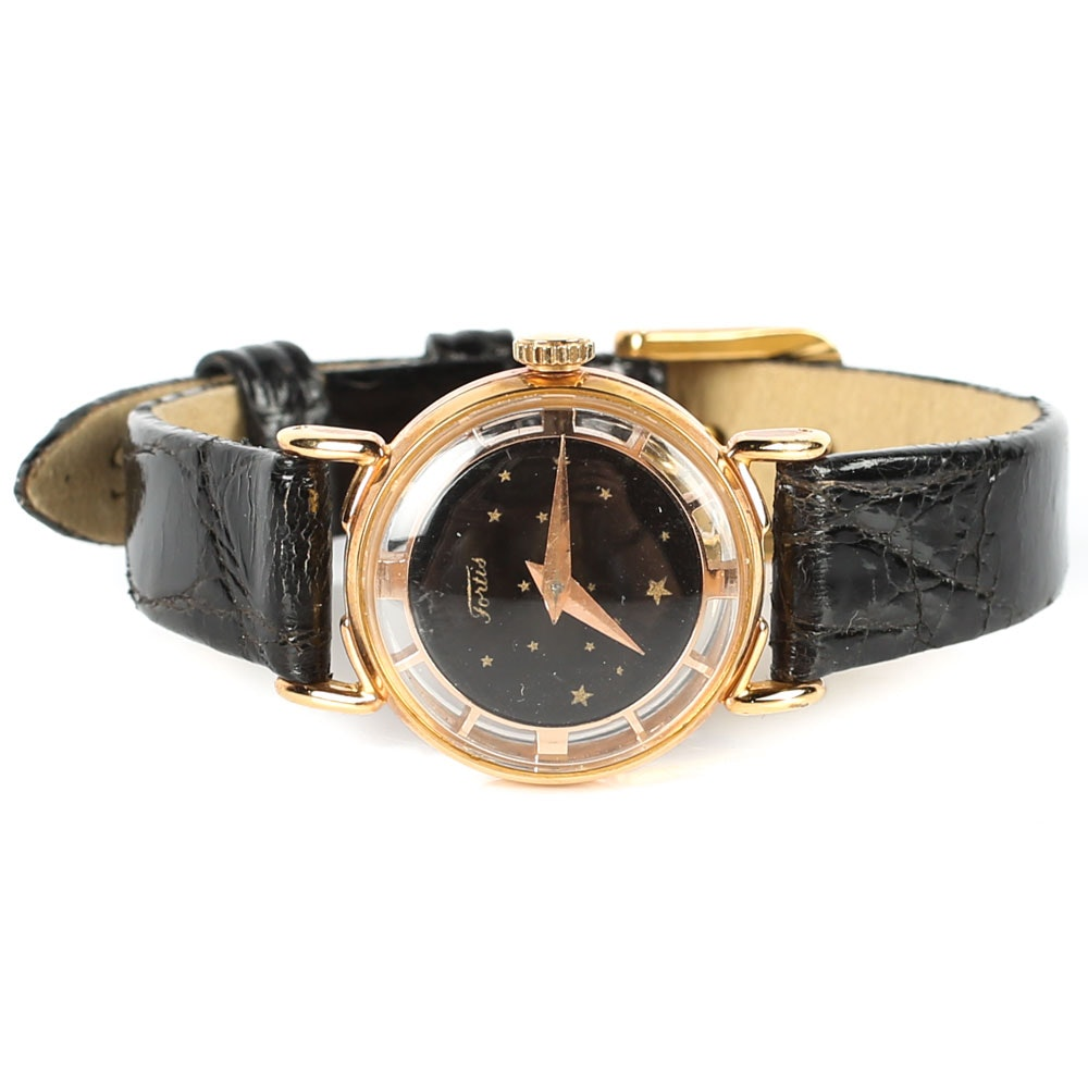 Fortis Wristwatch with Gold Washed Finish