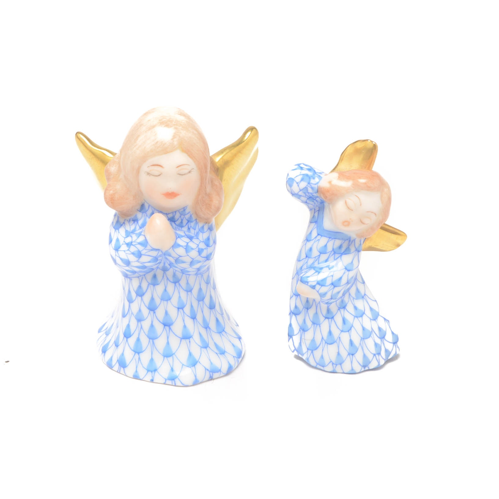 Herend Hungary Angel Figurines