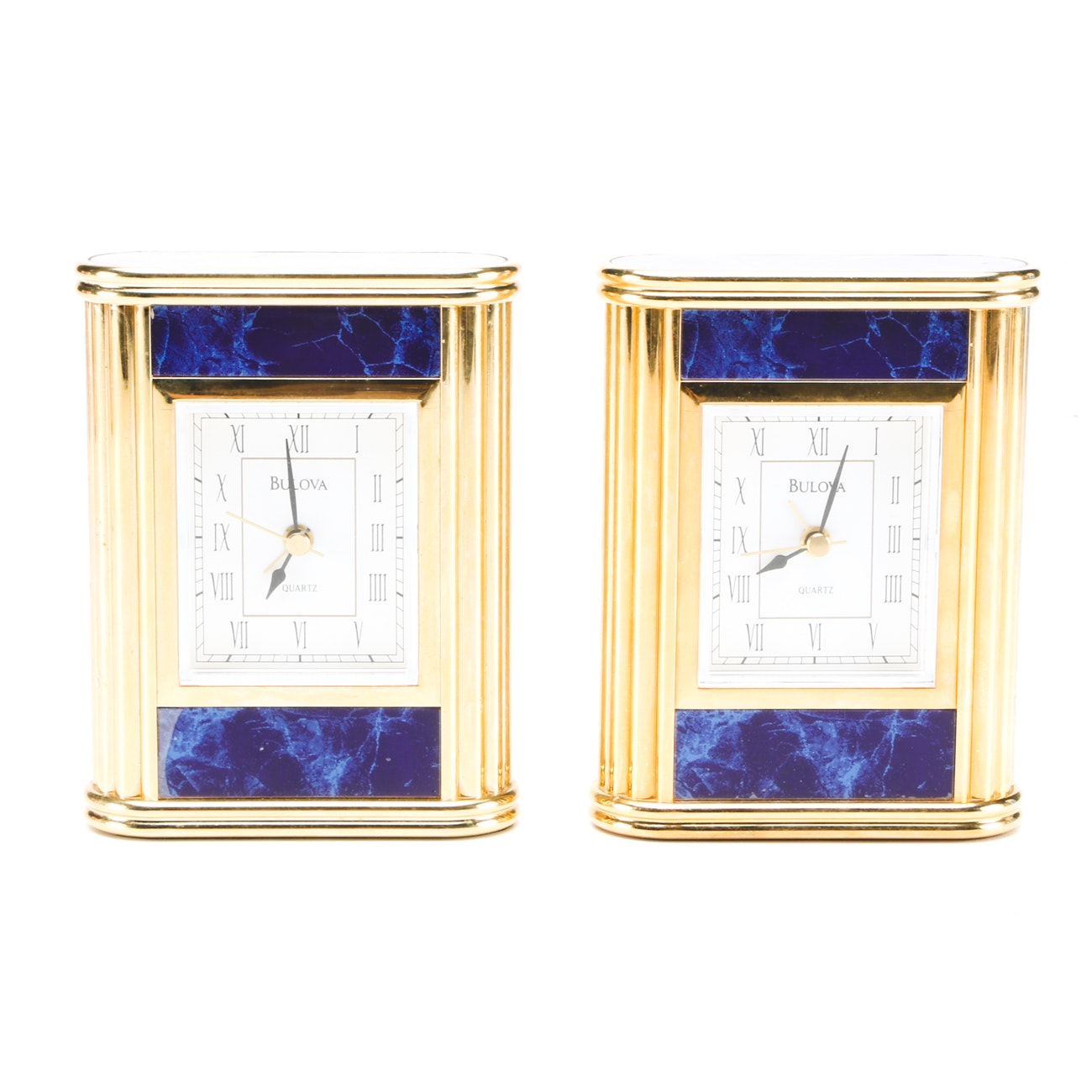 Pair of Shelf Clocks by Bulova