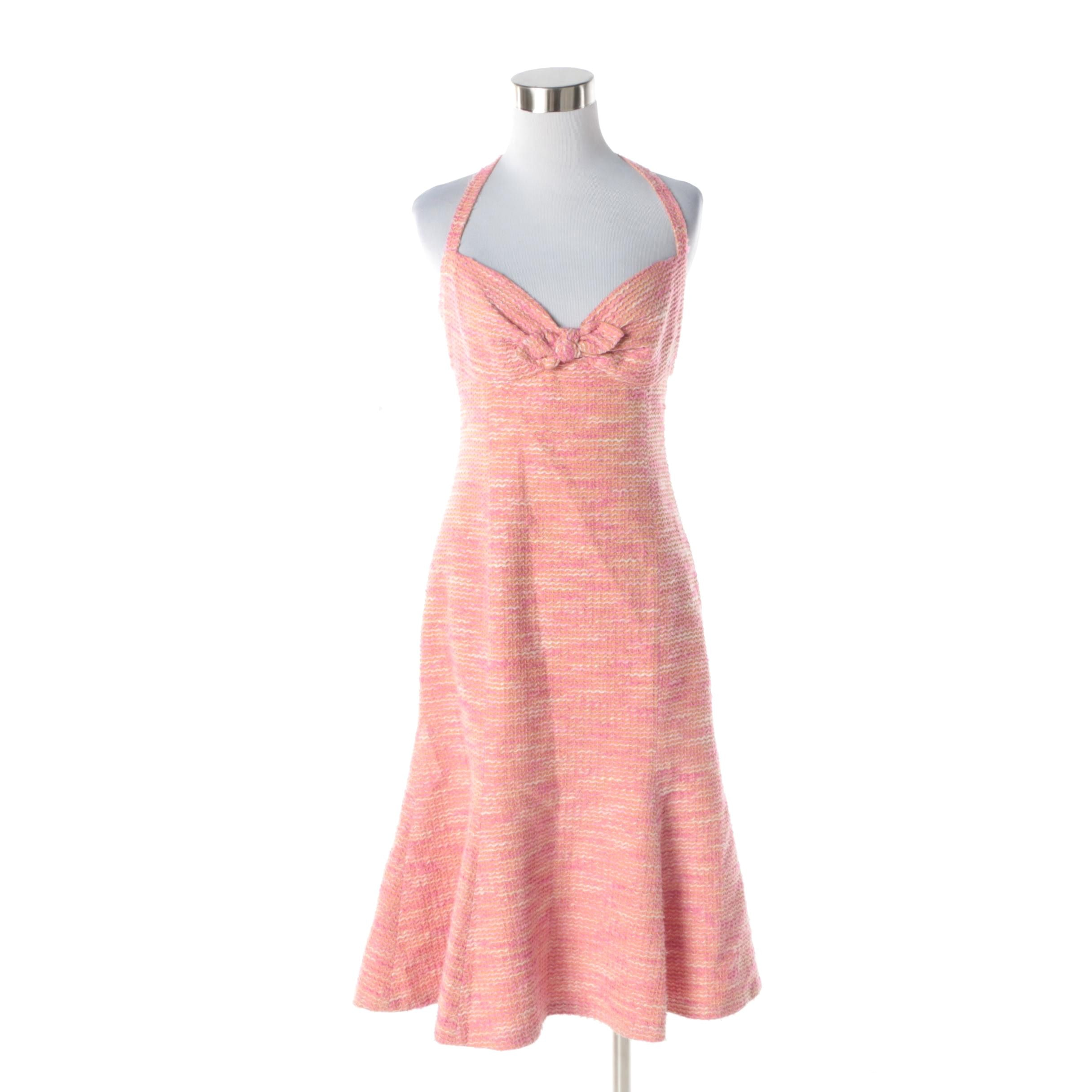 Moschino Cheap and Chic Satin Halter Dress