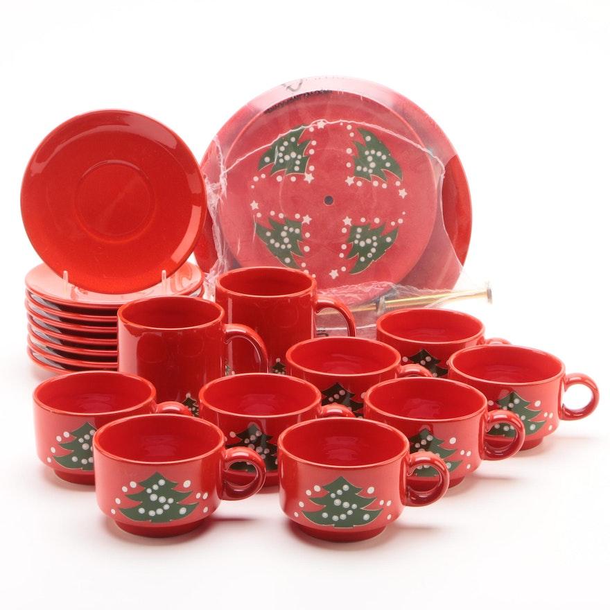 waechtersbach christmas tree ceramic tableware including vintage